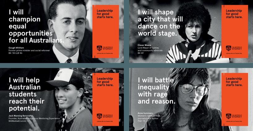 Banner Advertising in higher education - University of Sydney